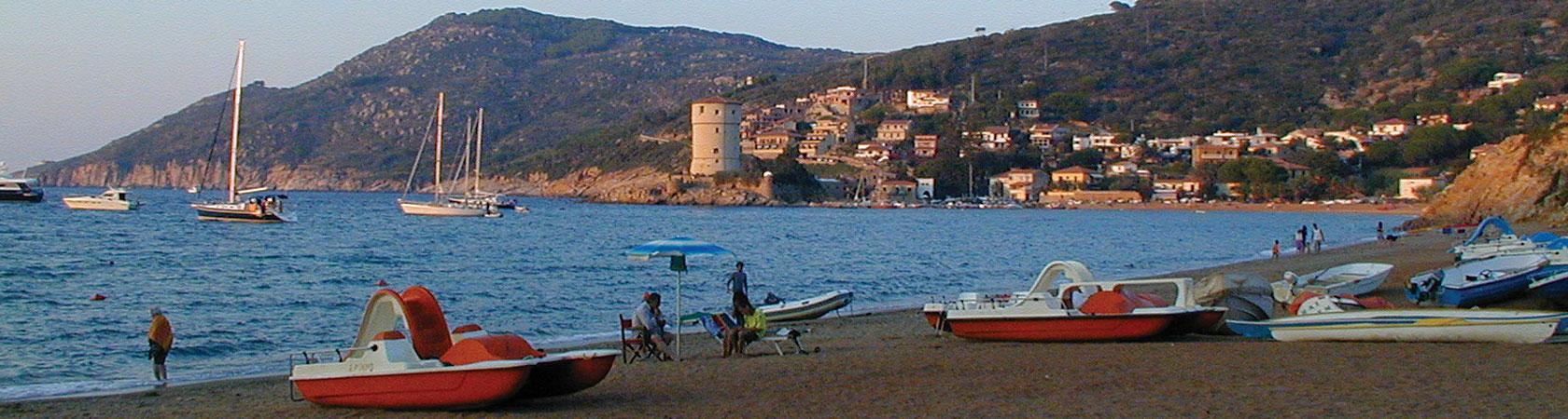 Marina del Giglio - La spiaggia dell\'isola